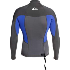 Quiksilver 1.5 Prologue T-shirt Manches longues Flat Lock Homme, jet black/nite blue